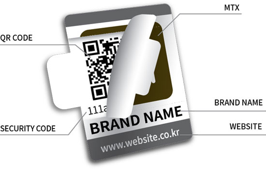 QR Code/MTX/Security Code/Brand Name/Website